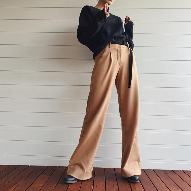 Women High Waist Causal Loose   Wide     Leg     Pants   for Trouser 2019 Autumn Female Women Casual Loose Palazzo Sweatpants Trousers