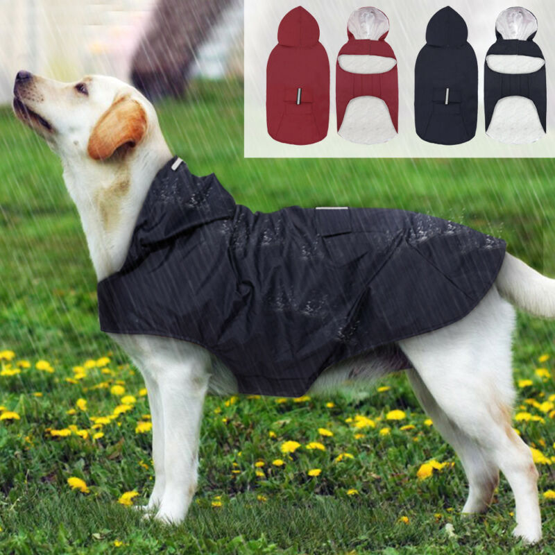 Pet Large Dog Raincoat Waterproof Big Dog Clothes Outdoor Coat Rain Jacket For Golden  Labrador  Big Dogs 3XL-5XL