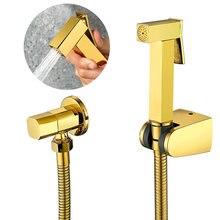 Ручной опрыскиватель для биде набор унитаза блестящий золотой