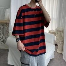 T Shirt Men Cotton Striped Fashion Mens Summer T-shirts 5XL Male Oversized Tee Shirts Funny Casual TShirt for Man Xxxtentacion
