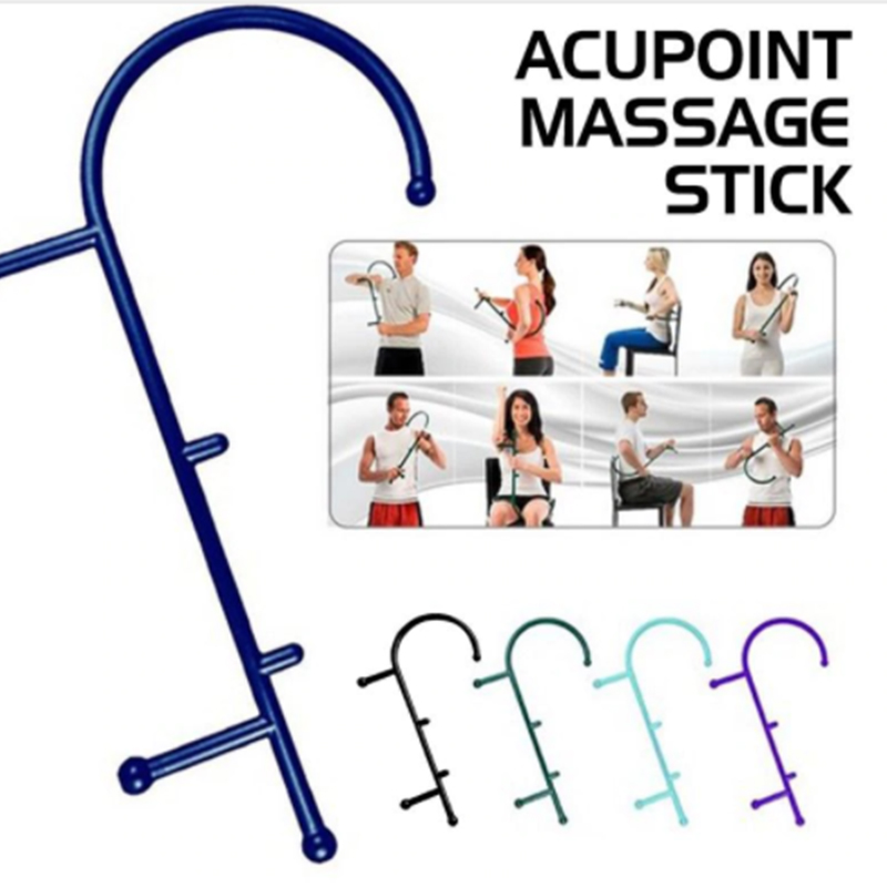 Trigger Point Self Massage Stick Hook Body Muscle Relief Original Cane Back Massager Therapeutic Tools Pressure Massager Tools