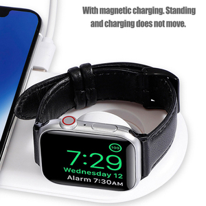Image 4 - Cargador inalámbrico Pad QC 3,0 para iWatch 1, 2, 3, 4, 5, adaptador de carga rápida Qi para iPhone 11, Xs, Samsung Note 10