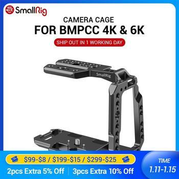 SmallRig BMPCC 4K / BMPCC 6K Camera Cage Half Cage for Blackmagic Design Pocket Cinema Camera 4K / 6K Feature w/ Nato rail 2254 smallrig bmpcc 4k cage dslr camera blackmagic pocket 4k 6k camera for blackmagic pocket cinema camera 4k 6k bmpcc 4k 2203b