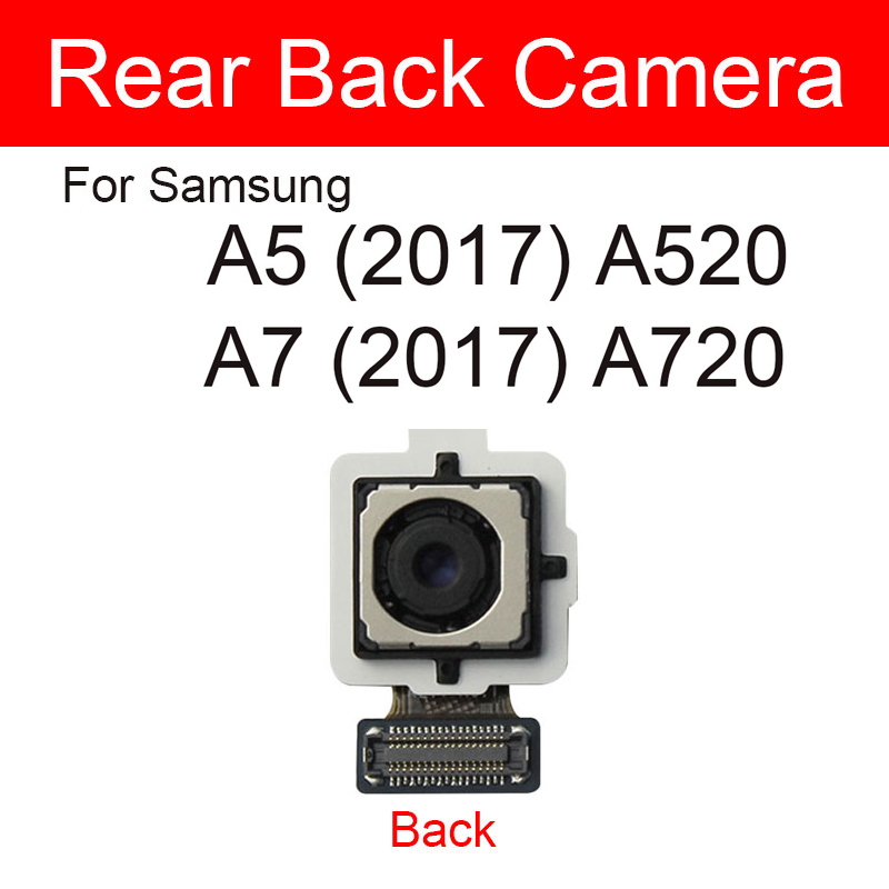 Back Main Camera For <font><b>Samsung</b></font> Galaxy <font><b>A5</b></font> A7 2017 <font><b>A520</b></font> A720 Big Rear Camera Flex Ribbon Cable Replacement Repair Parts image