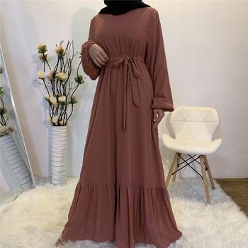 Vestido musulmán para mujer, Kimono turco, Dubai, Abaya, caftán marroquí, Hijab, ropa islámica, túnica larga
