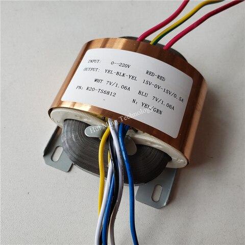 15v 0 15v 0 5a 2 7 v 1 06a transformador r nucleo r20 30va