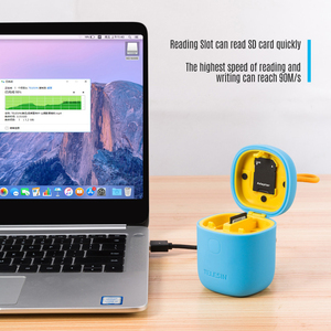Image 5 - Telesin Allin Hộp NP FW50 Pin Lưu Trữ Sạc Hộp Đầu Đọc Thẻ SD Cho FW50 Pin Cho Sony A7R NEX A7II máy Ảnh DSLR