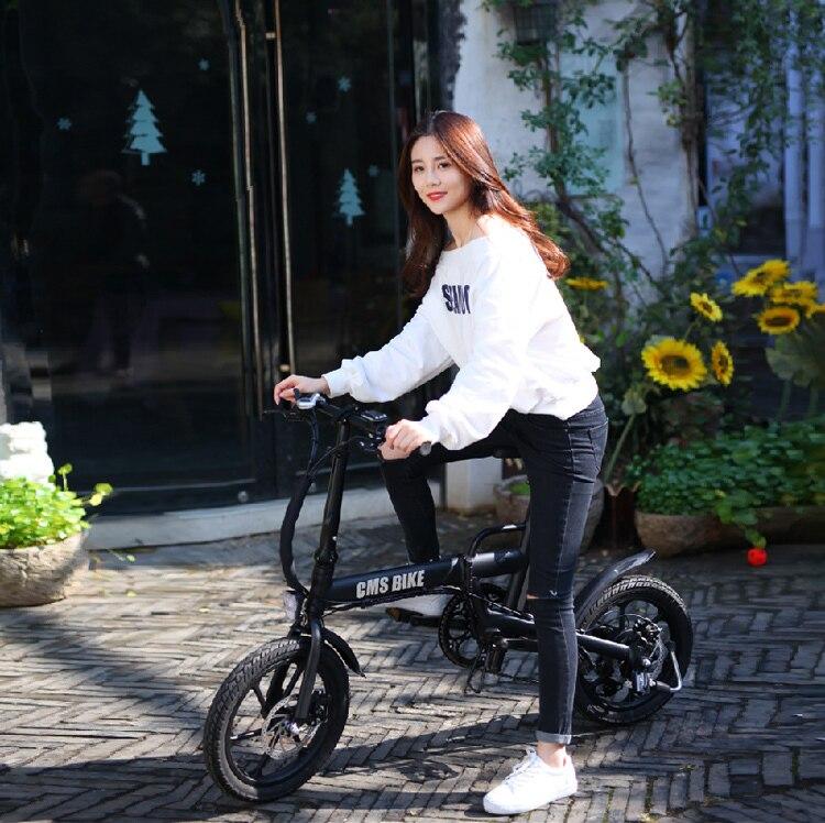 16 inch smart mini folding electric bike lithium battery powered foldable ebike for adults 6