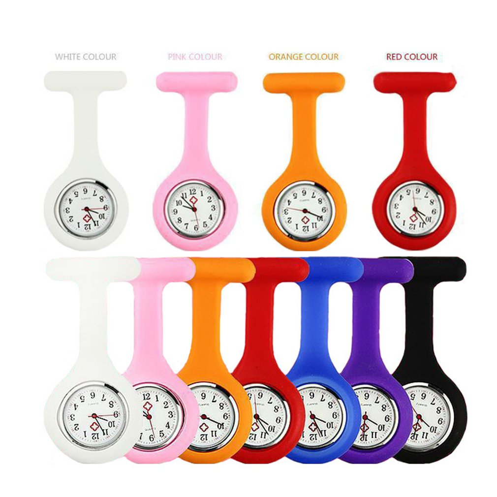 Multifunction Nurses Watches Doctor Fob Watch Brooches Silicon Doctor Nurse Women Pocket Watches Reloj De Bolsillo Enfermera