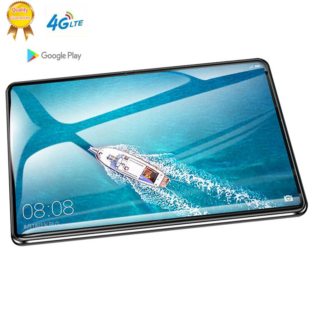 128GB Rom Tablette Tactile Android 3G Android 9.0 Octa Core Tablets Ram 6GB WiFi Usb GPS Bluetooth 10 Inch Tablet IPS Dual SIM