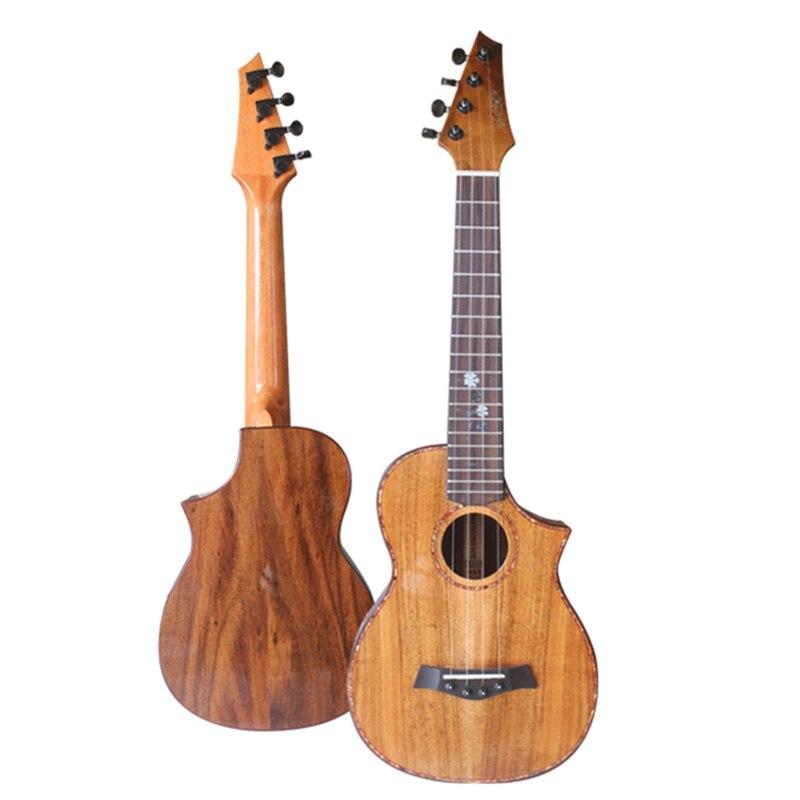 Ukulélé ténor professionnel haut de gamme 26 pouces tout bois d'acacia massif KOA Ukelele 4 cordes guitare acoustique manque conception d'angle
