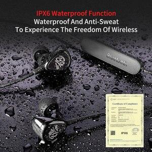 Image 5 - Kz bte 무선 블루투스 이어폰 하이브리드 기술 스포츠 헤드폰 방수 하이파이베이스 이어 버드 이어 모니터 aptx 헤드셋