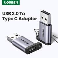 Ugreen-Adaptador USB tipo C para ordenador portátil, adaptador USB 3,0 2,0 macho a USB 3,1 tipo C, adaptador USB para auriculares Samsung, Xiaomi 10