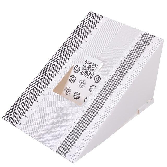 Mayitr 1 adet katlanır kart Lens odak test aracı profesyonel kalibrasyon hizalama AF mikro ayar cetvel grafik
