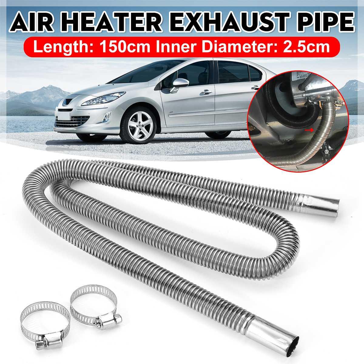 150cm Auto Air Standheizung Auspuffrohr Schlauch Rohr Edelstahl Kraftstoff Tank Auspuffrohr Für Diesel Heizung