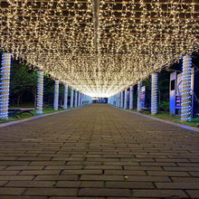 Christmas Lights Outdoor Decoration LED Curtain Icicle String Lights New Year Wedding Party Garland Light Decoration Lamp