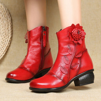 Hot New Ankle Boots For Women Genuine Leather Women Boots Female Winter Boots Women Shoes Booties Botas Mujer Women's Boots
