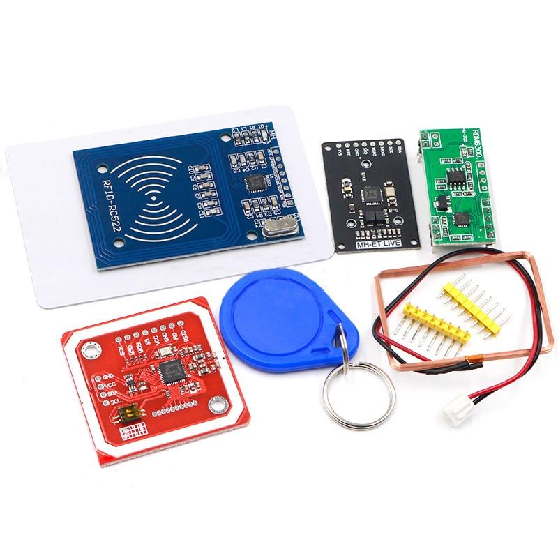Модуль RFID RC522 MFRC-522 RDM6300, наборы S50 13,56 МГц 125 кГц 6 см с бирками, SPI, запись и чтение для arduino uno 2560