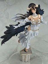 Nova chegada anime quente sexy menina albedo voando estátua 1/8 escala pintado figura de ação pvc coleção modelo boneca brinquedo lelakaya 29cm