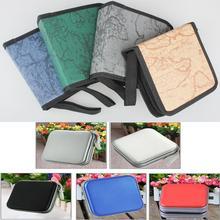40 Disc pojemnik turystyczny uchwyt pakiet torba do przechowywania w samochodzie Album DVD CD Organizer pokrowiec ochronny kolor domu losowo