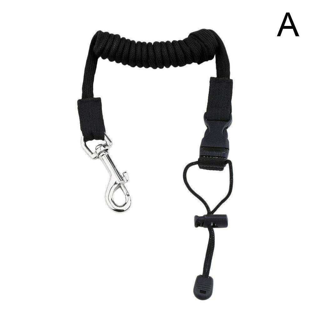 Rowing Boat Elastic Paddle Leash Kayak Accessories Fishing Canoe Rope Coiled Cord Lanyard Rod Tie Safety Kayak Surfing Surf E5G7