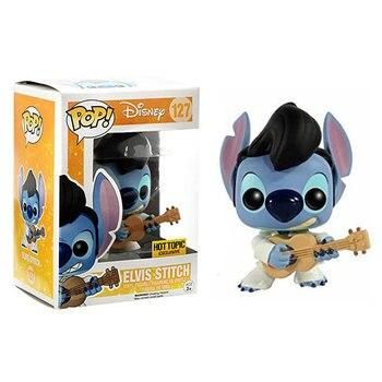 POP Cute Stitch tocar guitarra muñecas de vinilo figuras de acción colección juguetes modelo para niños regalo de cumpleaños