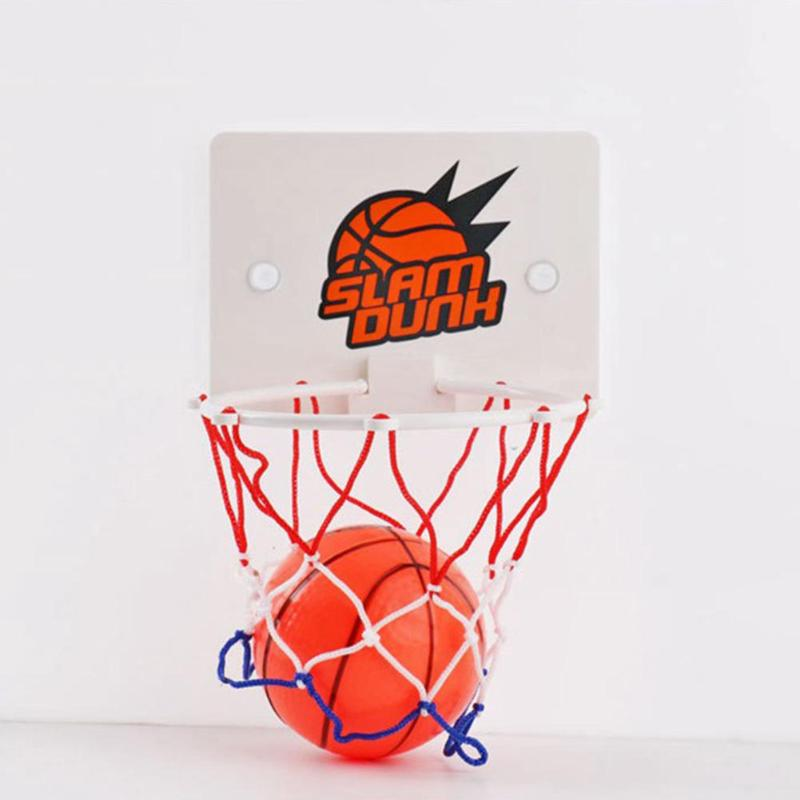 Mini Basketball Board Indoor Children Basketball Rack Office Basketball Toy Two Suckers Attached To The Back Stabilizing