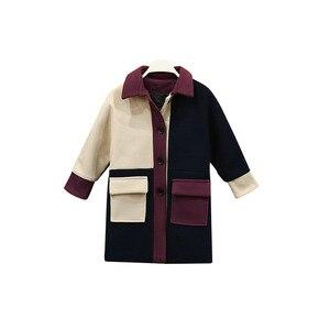 Image 5 - Модное Трендовое пальто для девочек, молодежное энергичное Детское пальто, живое милое пальто для девочек, хлопковое пальто с отложным воротником, полная одежда для девочек из полиэстера