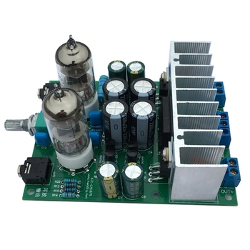 HIFI 6J1 Tube Amplifier Headphones Amplifiers LM1875T Power Amplifier Board 30W Preamp Bile Buffer Diy Kits diy kit ac 12v 6j1 tube fever pre amplifier preamp amp pre amplifier board headphone buffer module stereo potentiometer valve