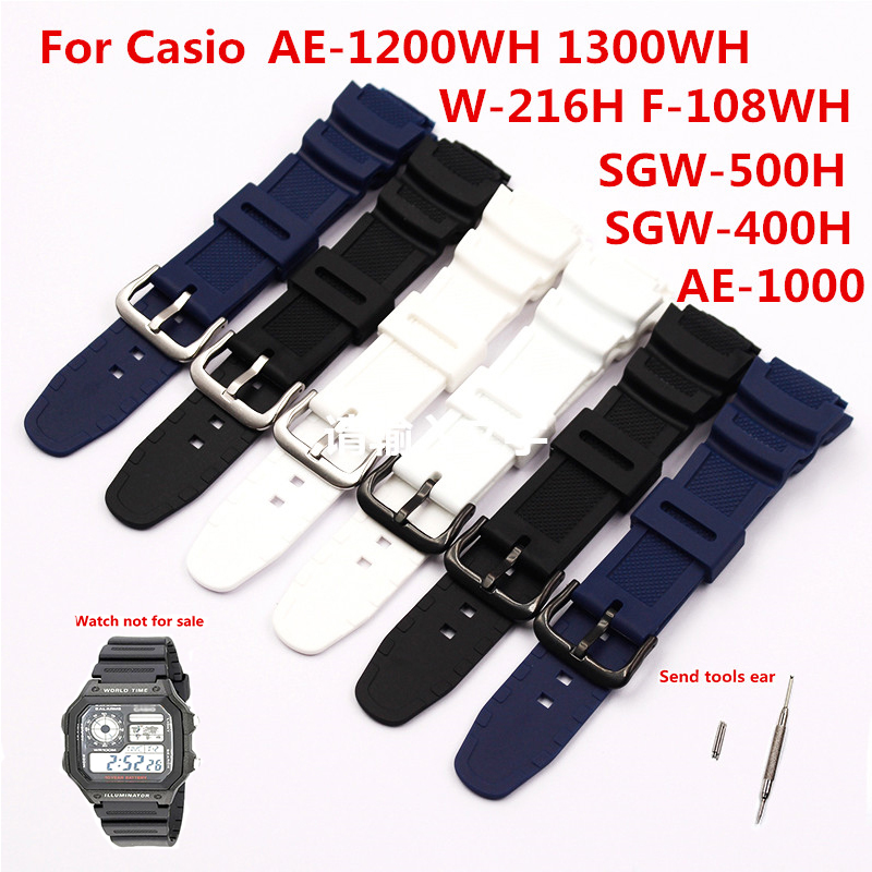 Watch Accessories Resin Strap Men For CASIO Casio AE-1200WH 1000W 1300WH W-216H