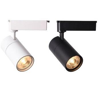 led track spotlight 220V aluminum body 12W / 20W 30W black white COB light source clothing store
