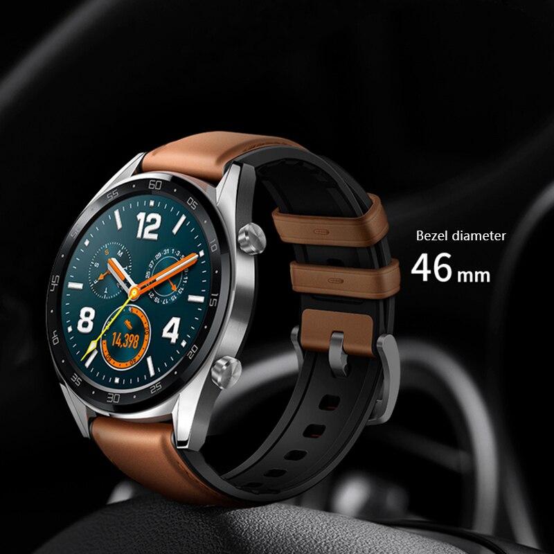 Смарт часы HUAWEI GT, водонепроницаемые, трекер сердечного ритма, Поддержка NFC, gps, мужской спортивный трекер, Смарт часы GT - 6