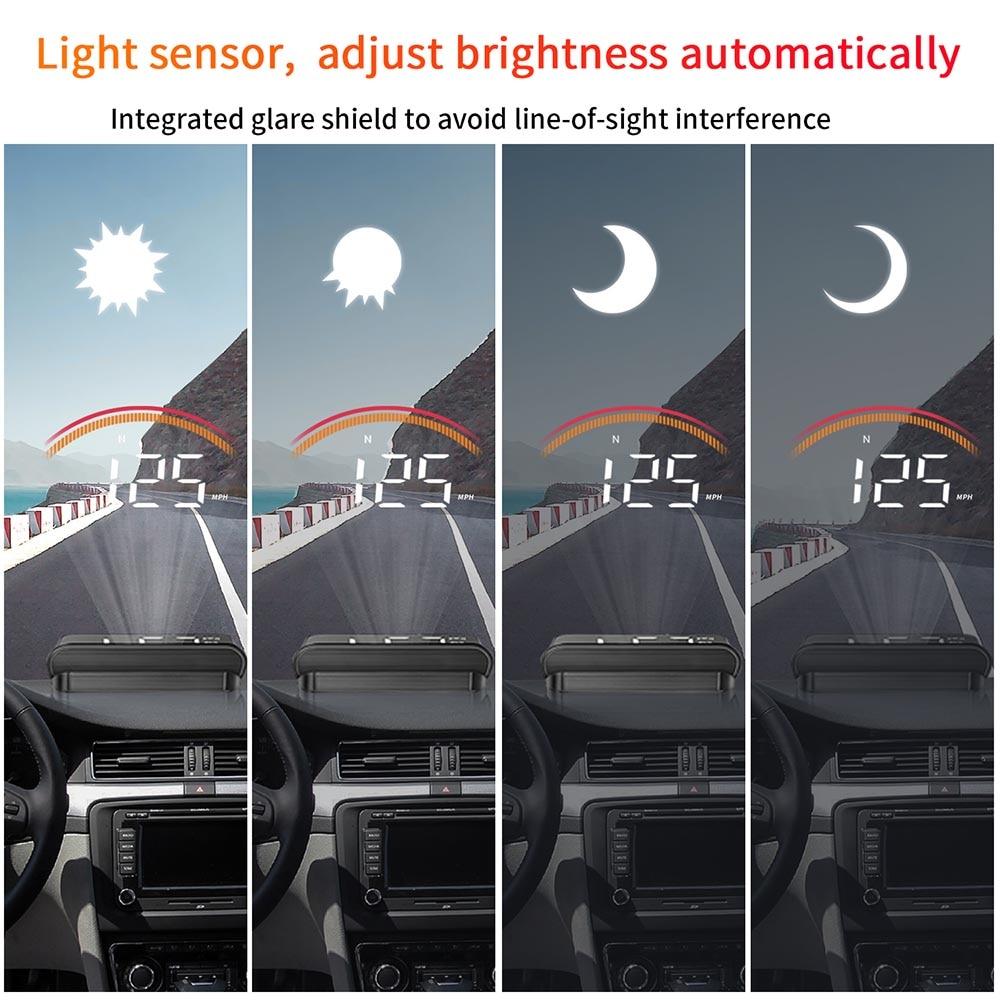 lowest price Car OBD2 Head Up Display M11 GPS HUD Digital Speedometer Overspeed Voltage Windshield Speed Projector Security Alarm Temp PK M7