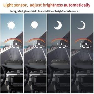 Image 4 - Obd2 display para carros com gps, display de cabeça para cima, m11, gps, hud, velocímetro digital, sobrevelocidade, projeção de velocidade, alarme de segurança, pk m7
