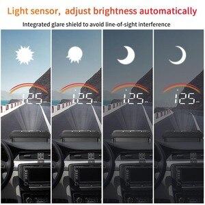 Image 4 - Pantalla para coche OBD2, M11, GPS, HUD, velocímetro Digital, voltímetro, parabrisas, velocidad, proyector, alarma de seguridad, Temp, PK, M7