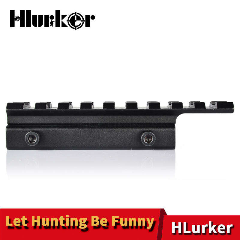 Hlurker Tactical 9 Slot 11mm to 20mm 0.5 Riser Extension Picatinny Rail Rifle Scope Mount Hunting Airsoft Accessories For AR15 image