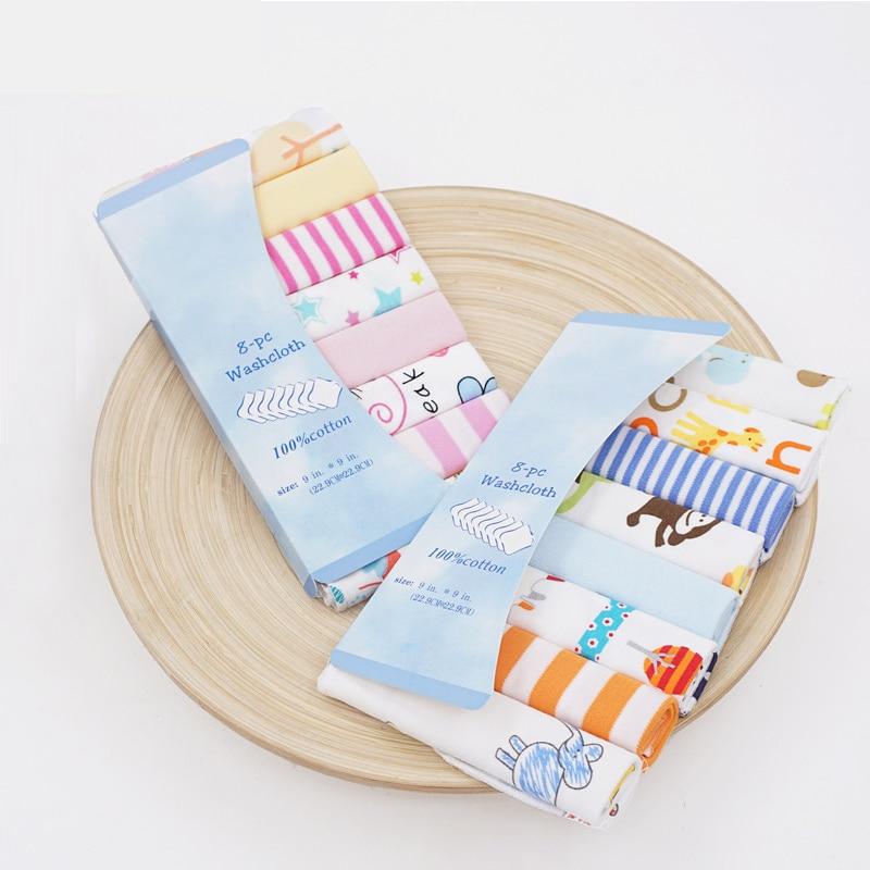 8pcs/pack 100% Cotton Newborn Baby Bathing Towels Saliva Towel Nursing Towel Baby Boys Girls Bebe Toalha Washcloth Handkerchief