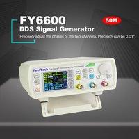 FellTech FY6600-50M 50MHZ Controle Dual-channel Digital Medidor de Freqüência Gerador de Sinal Função DDS Arbitrária