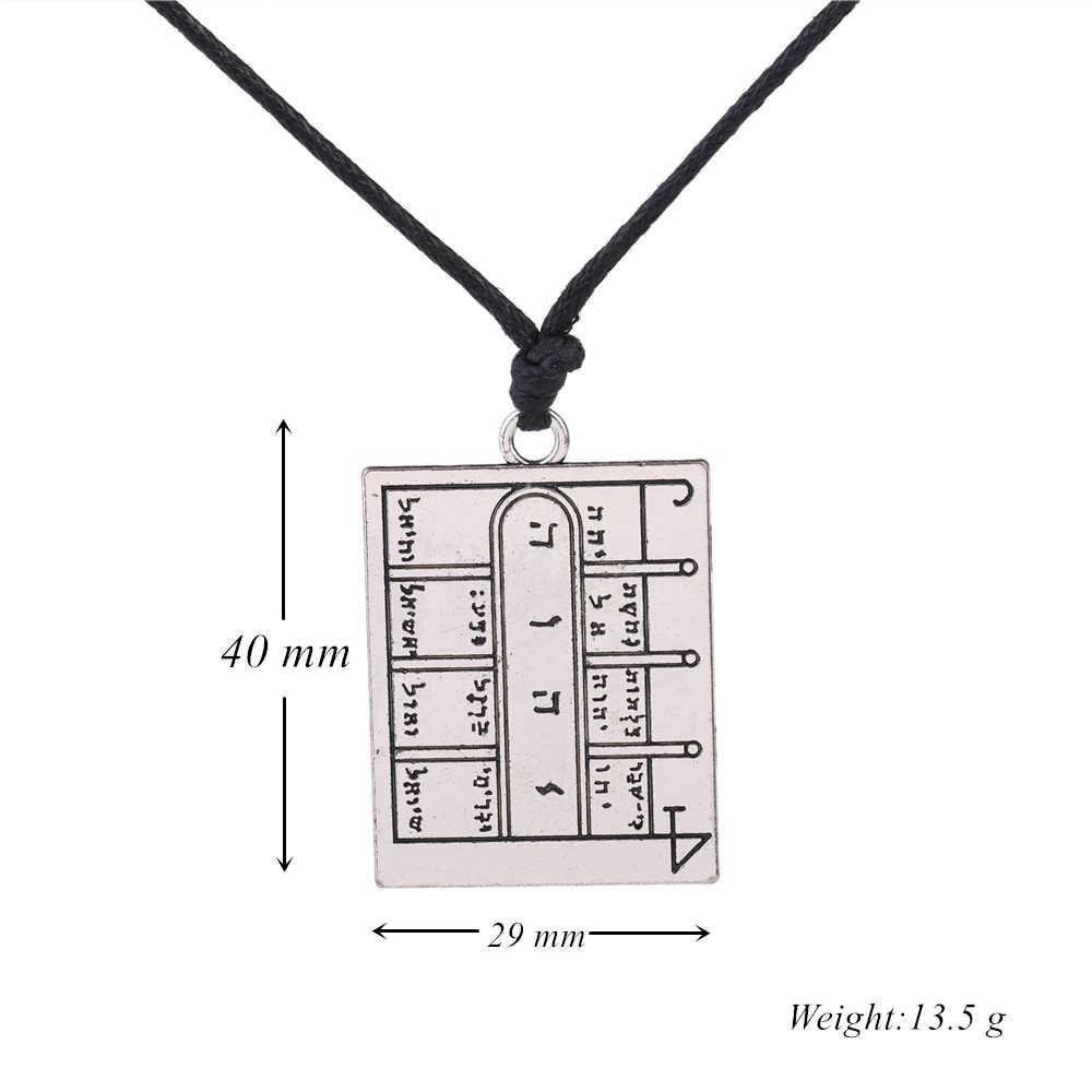 Dawapara klucz króla salomona pentagram otwarte drzwi Amulet talizman kwadratowy wisiorek naszyjnik pierwsza magiczna tablica księżyca
