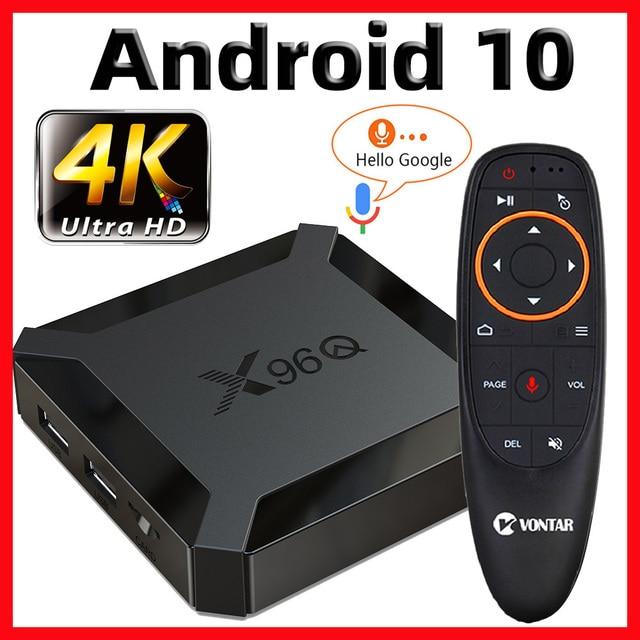 X96Q TV Box Android 10 Smart tv box 2020 TvBox Allwinner H313 Quad Core 4K 60fps 2,4G Wifi google Plays Youtube pk X96 TVbox