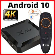 X96Q TV kutusu Android 10 akıllı tv kutusu 2020 TvBox Allwinner H313 dört çekirdekli 4K 60fps 2.4G Wifi google play store Youtube pk X96 tv kutusu