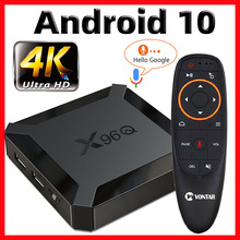 X96Q Tv Box Android 10 Smart Tv Box 2020 Tvbox Allwinner H313 Quad Core 4K 60fps 2.4G Wifi google Playstore Youtube Pk X96 Tvbox