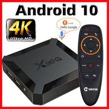 X96Q tvボックスアンドロイド10スマートtvボックス2020 tvbox allwinner H313クアッドコア4 18k 60fps 2.4 3g wifi google playstore youtube pk X96 tvbox