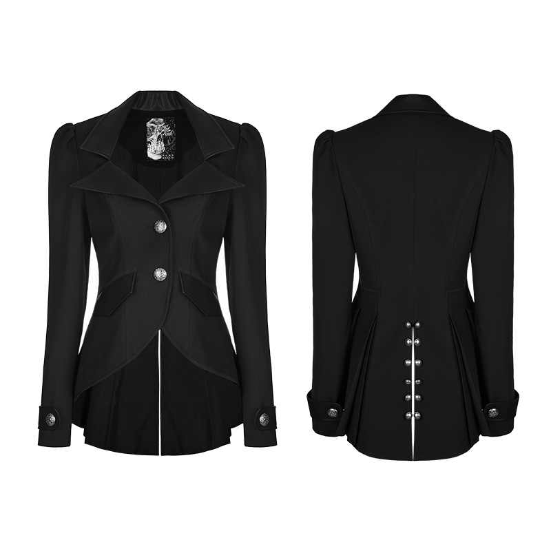 PUNK RAVE Women Steampunk Gothic Jacket Coat Fashion Retro Party Women Suit Casual Daily Punk Jacket