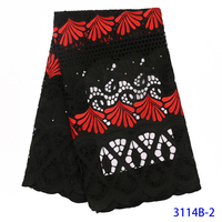 Latest African Silk Milk Lace Fabric 2019 High Quality Nigerian Hot Water Soluble Lace Fabric With Embroidered Flowers QF3114B 2