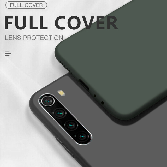Liquid Silicone Case For Xiaomi Mi Note 10 Pro 9 SE 9T Pro A3 A2 Lite Slim Soft Cover For Xiaomi Redmi Note 8 Pro 7 8T 7A 8A K30