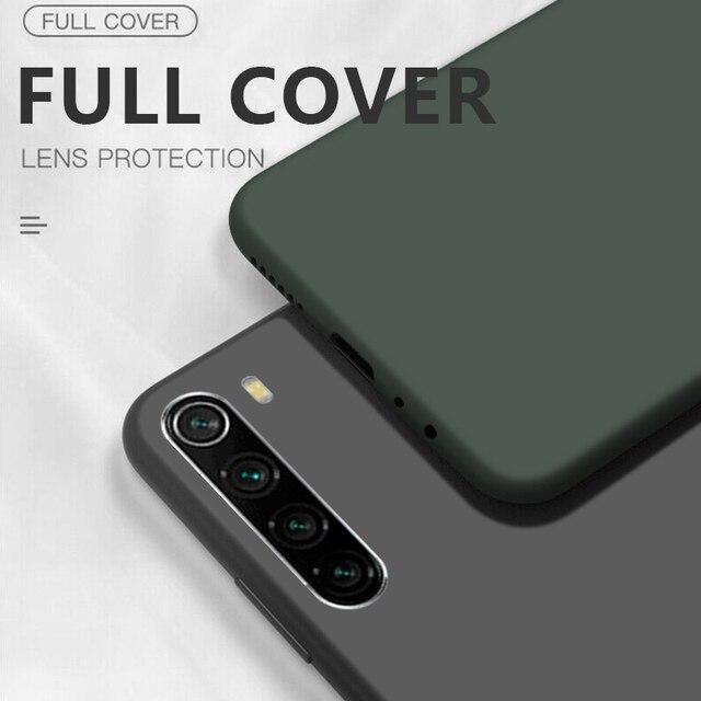 Płynny silikonowy pokrowiec do Xiaomi Mi uwaga 10 Pro 9 SE 9T Pro A3 A2 Lite Slim miękka okładka do Xiaomi Redmi uwaga 9 s 8 Pro 7 8T 7A 8A