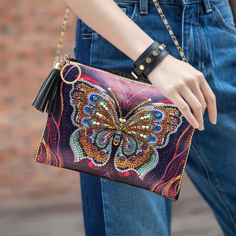 Новое поступление 5d diy Алмазная Картина Бабочка кожаная сумка