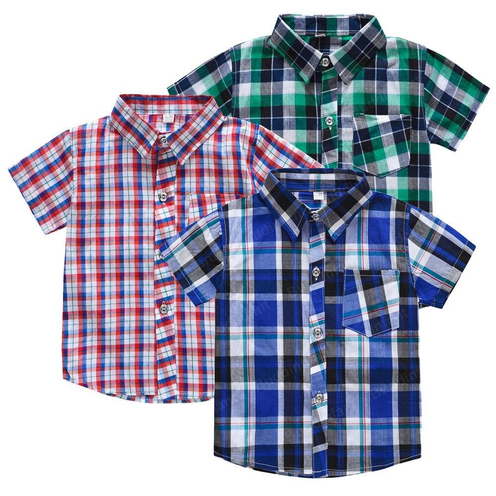 Unisex Summer Plaid Shirts