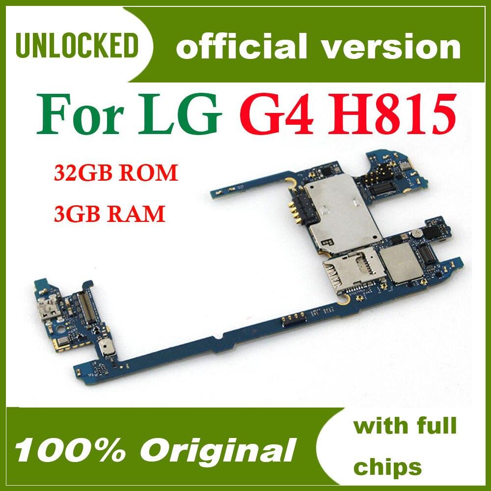 32gb Pour Lg G4 H815 Carte Mere Original Debloque Pour Lg G4 H815